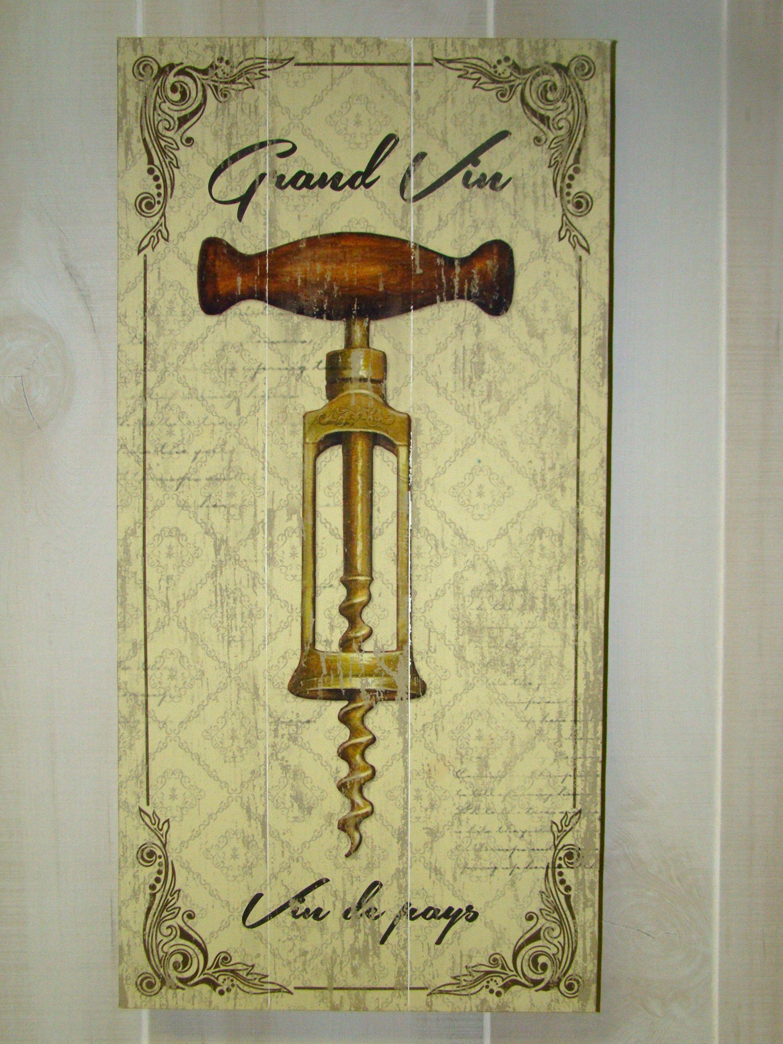 Vintage Antique Beige Wine Bottle Opener Wall Decor 14059 ...